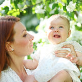 Mother and daughter close up portrait Royalty Free Stock Image