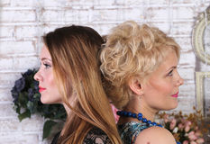 Mother and daughter close up portrait Royalty Free Stock Photo