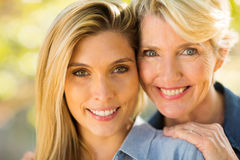 Mother daughter close up Stock Images