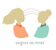 Mother and daughter communication Royalty Free Stock Image