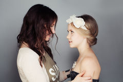 Mother and  Daughter. Communication Royalty Free Stock Images