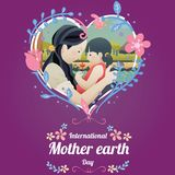 International Mother Earth Day, 22 April. Royalty Free Stock Photos
