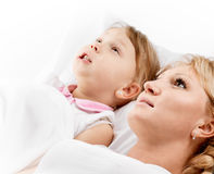 Mother daughter conversation Royalty Free Stock Photography