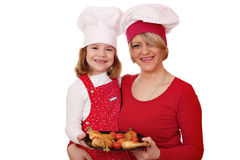 Mother and daughter cook Royalty Free Stock Photo