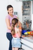 Mother and daughter cooking Royalty Free Stock Photo