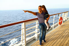 Mother and daughter on a cruise indicates something interesting Royalty Free Stock Photos