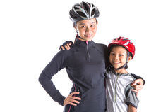 Mother and Daughter Cycling Attire I Stock Photography