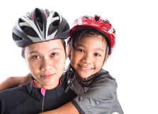 Mother and Daughter Cycling Attire V Stock Image