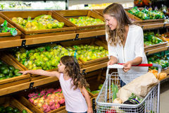 Mother and daughter doing shopping Royalty Free Stock Photos