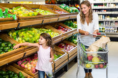 Mother and daughter doing shopping Royalty Free Stock Image