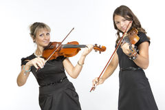 Mother daughter duet Royalty Free Stock Photography