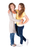Mother and daughter embracing each other Royalty Free Stock Photos