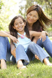 Mother And Daughter Enjoying Day In Park Royalty Free Stock Images
