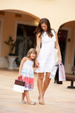 Mother And Daughter Enjoying Shopping Trip Royalty Free Stock Photo