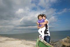 Mother and daughter enjoying summer Stock Photos