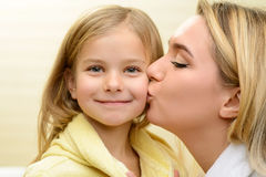 Mother and daughter expressing love Stock Photography