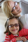 Portrait of mom and little girl Royalty Free Stock Images