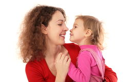 Mother with daughter fac-to-face Royalty Free Stock Photos