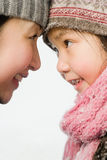 Mother and daughter face to face Royalty Free Stock Photo