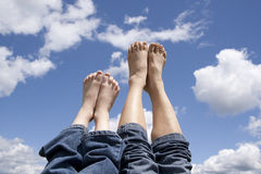 Mother and daughter feet. Stock Photography