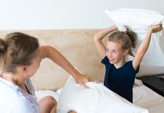 Pillow fight. Stock Photography