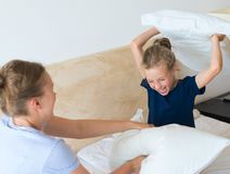 Pillow fight. Royalty Free Stock Photography