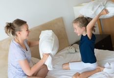 Pillow fight. Royalty Free Stock Photos