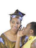 Mother and daughter, filial love, isolated Stock Photo
