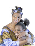 Mother and daughter, filial love, isolated Royalty Free Stock Images
