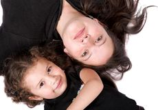 Mother and daughter on the floor Royalty Free Stock Photo