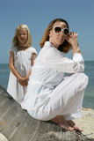 Mother and daughter in Florida Stock Photo
