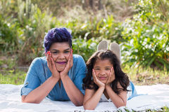Mother and daughter. Fun portrait stock image