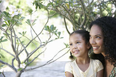 Mother And Daughter In Garden Royalty Free Stock Images