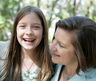 Mother Daughter Giggles Stock Image