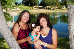 Mother, Daughter, Granddaughter Stock Photos