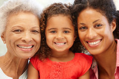 Mother,daughter and granddaughter Stock Images