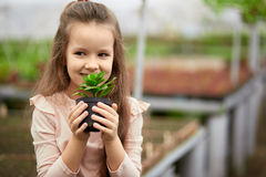 Mother And Daughter Growing Plants Royalty Free Stock Photos