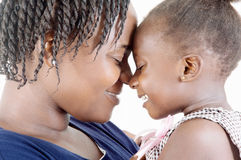 Mother and daughter happy Stock Image