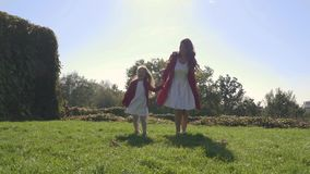 Mother and daughter have a fun together stock footage