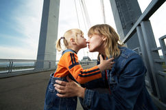 Mother and daughter have a good time Stock Photo