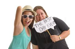 Mother and daughter having the Best Day Ever Royalty Free Stock Image