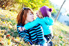 Mother with daughter having fun Royalty Free Stock Photo