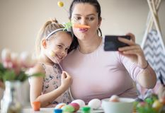 Fun on Easter. royalty free stock photos