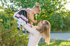 Mother and daughter having fun Royalty Free Stock Image