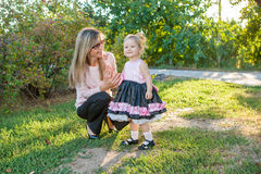 Mother and daughter having fun Royalty Free Stock Images