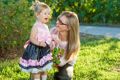 Mother and daughter having fun Stock Images