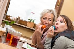 Mother and daughter having fun Royalty Free Stock Photos
