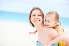 Mother and daughter having fun outdoors Royalty Free Stock Photo