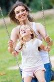 Mother and Daughter having fun outdoors Royalty Free Stock Photography