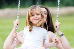 Mother and Daughter having fun outdoors Royalty Free Stock Image